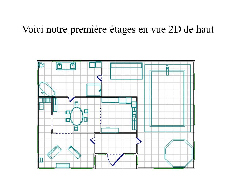 Voici notre première étages en vue 2D de haut