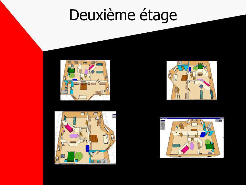 Plan de la maison Le premier étage comporte le salon, la cuisine, salle à manger et salle deau