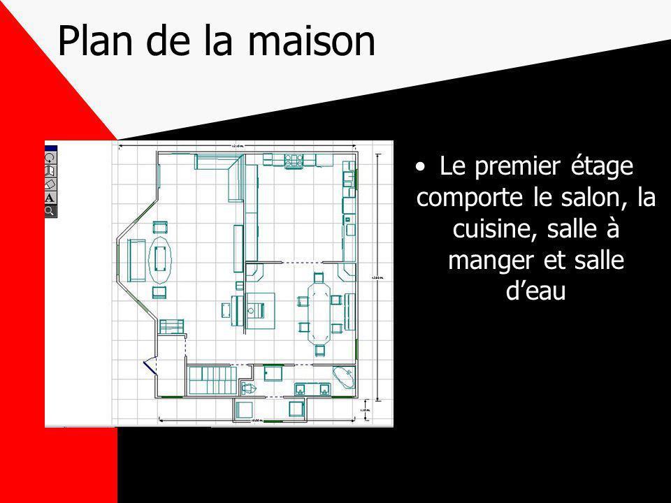 Plan deuxième étage Cet étage contient la chambre des maîtres, deux chambres denfants, un salon et une salle de bain
