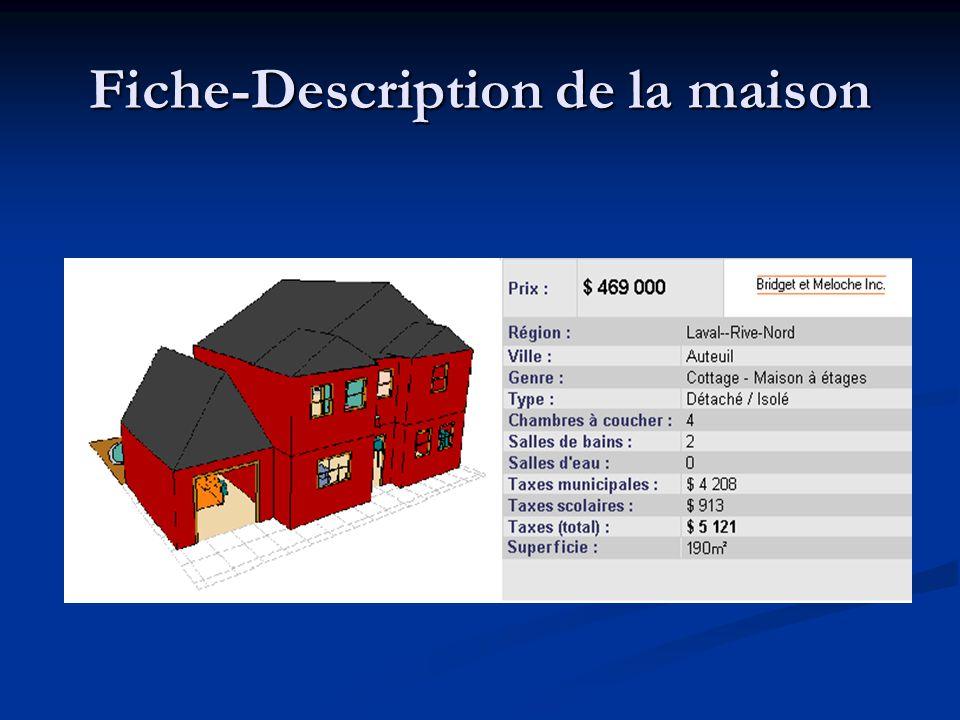 Fiche-Description de la maison