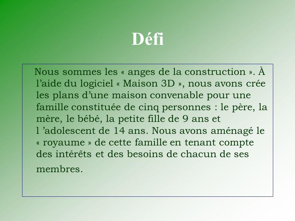 Défi Nous sommes les « anges de la construction ».