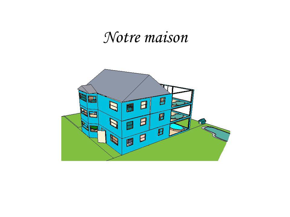 Défi Nous sommes les « anges de la construction ». À laide du logiciel « Maison 3D », nous avons crée les plans dune maison convenable pour une famill