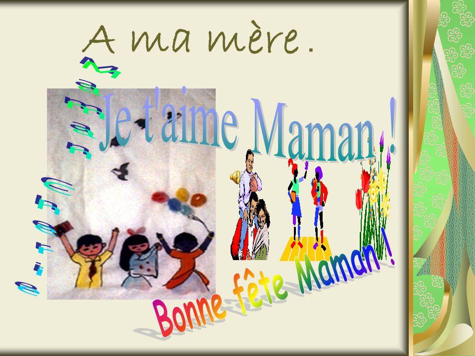 Le Jour du 28 Mai de lan… À lécole, on fabrique des cadeaux à base des cartons, des feuilles et de la colle, on décore la photo de maman, on décore notre classe.