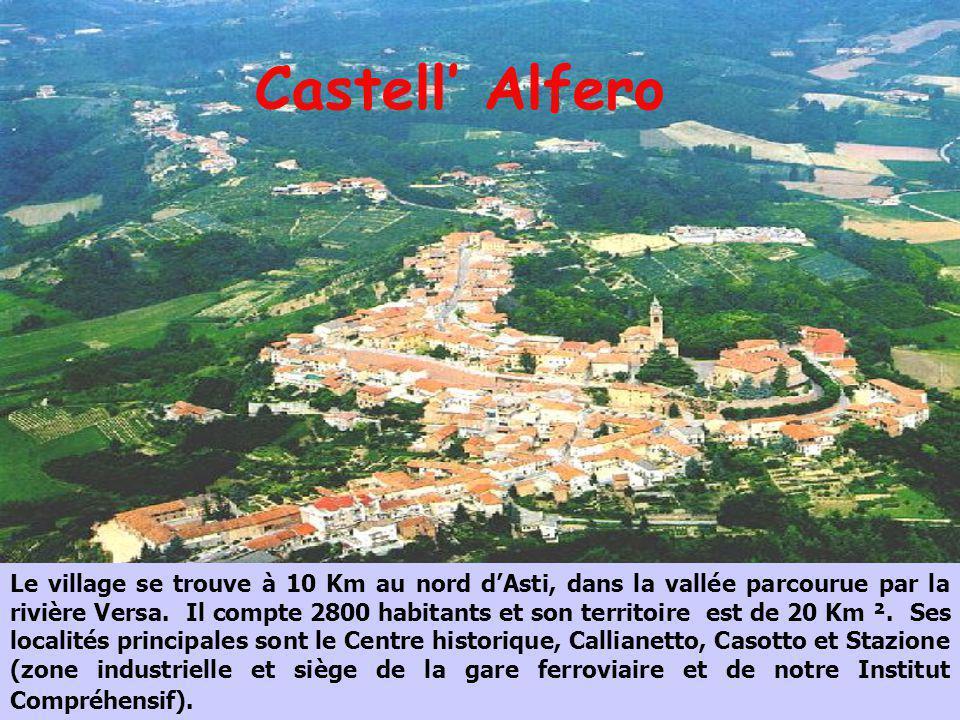 Castell Alfero Le village se trouve à 10 Km au nord dAsti, dans la vallée parcourue par la rivière Versa. Il compte 2800 habitants et son territoire e