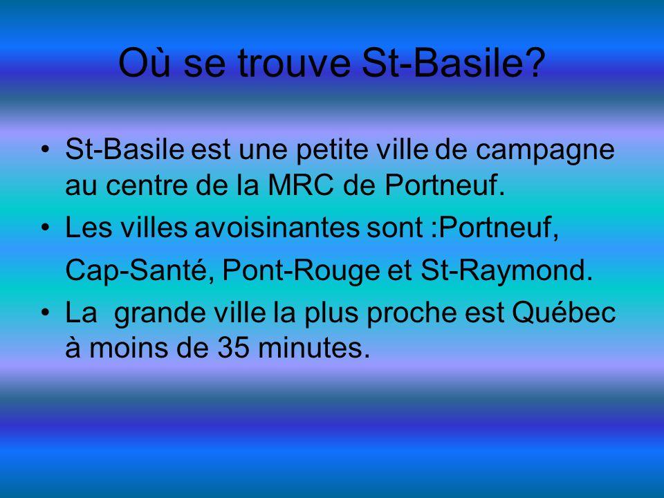 Où se trouve St-Basile. St-Basile est une petite ville de campagne au centre de la MRC de Portneuf.