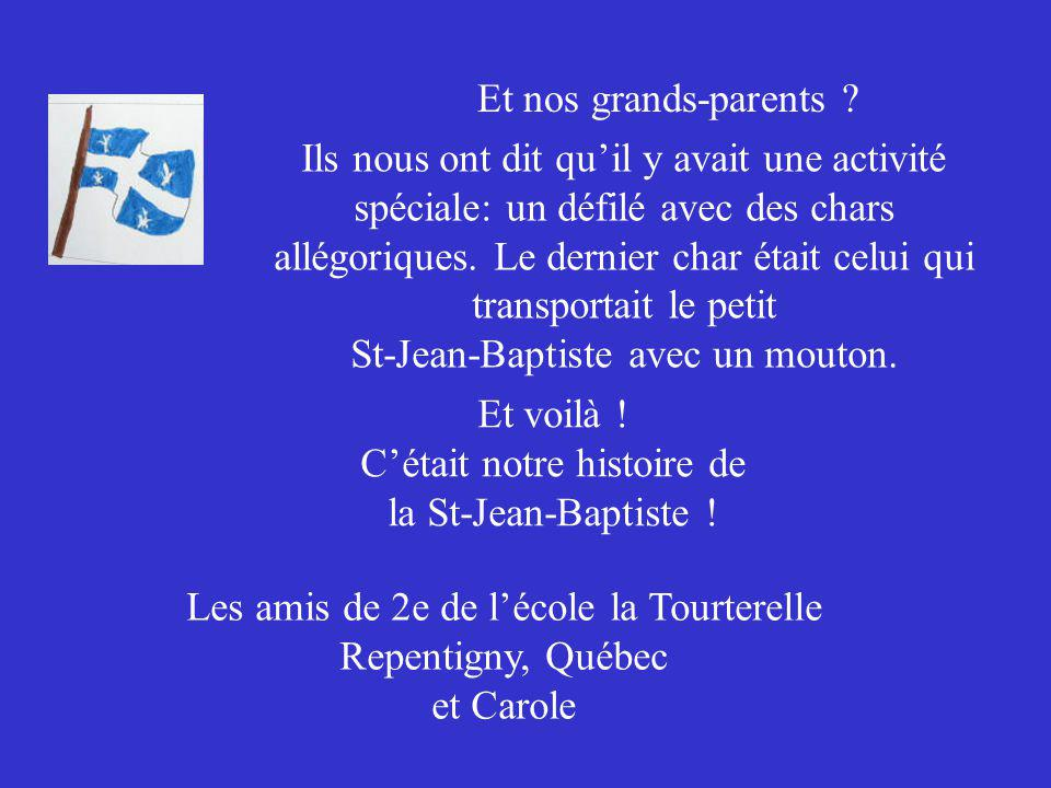 Et nos grands-parents .