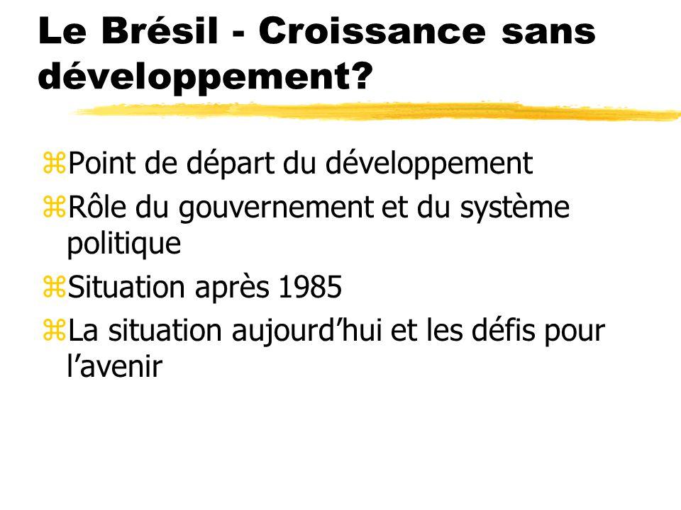 Le Brésil - Croissance sans développement.