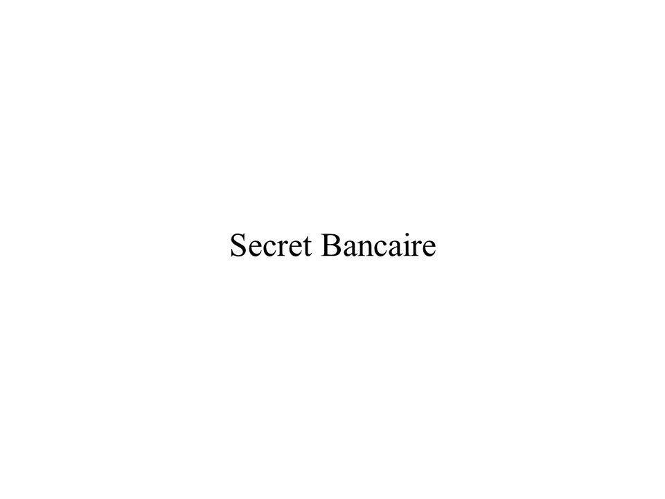 Secret Bancaire