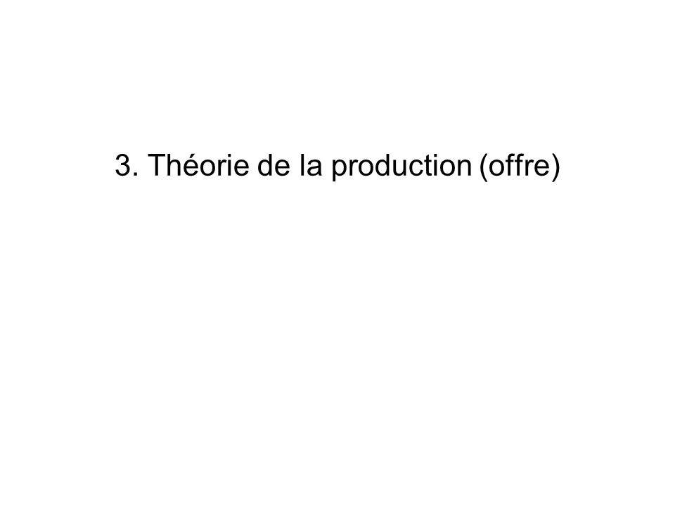 22 Fct C-D: Rendements (déchelle) croissants ou décroissants.