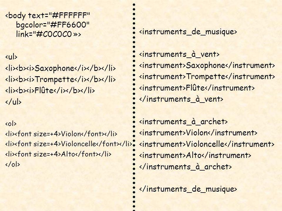 Saxophone Trompette Flûte Violon Violoncelle Alto Saxophone Trompette Flûte Violon Violoncelle Alto