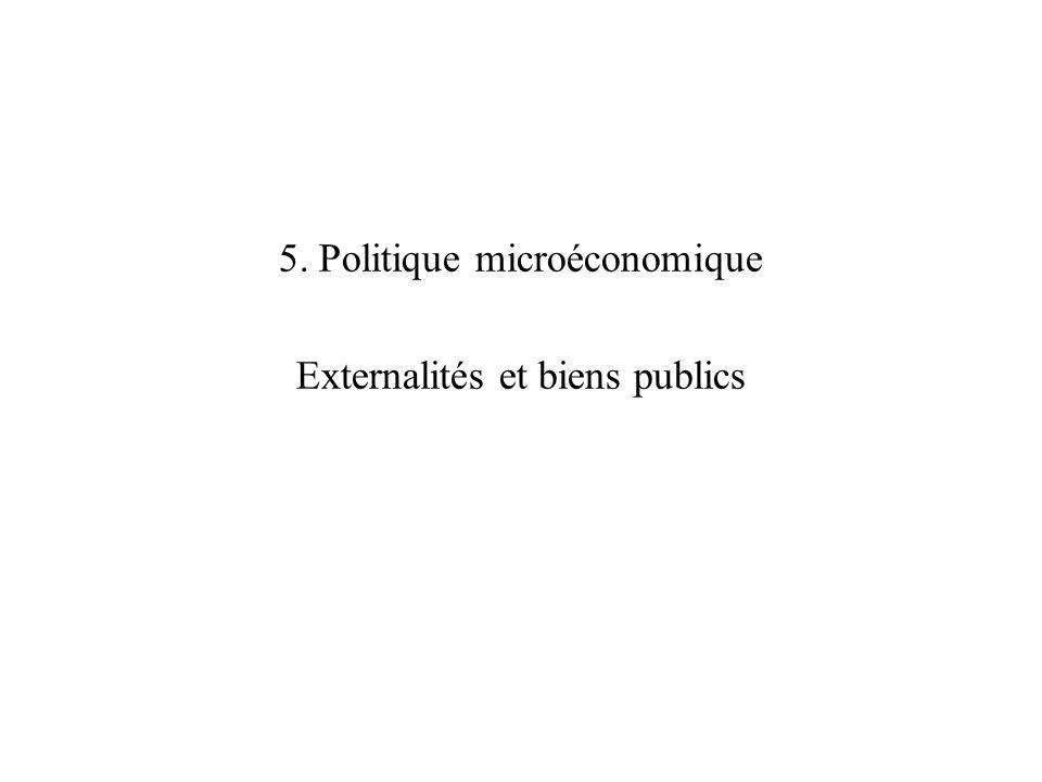 5. Politique microéconomique Externalités et biens publics
