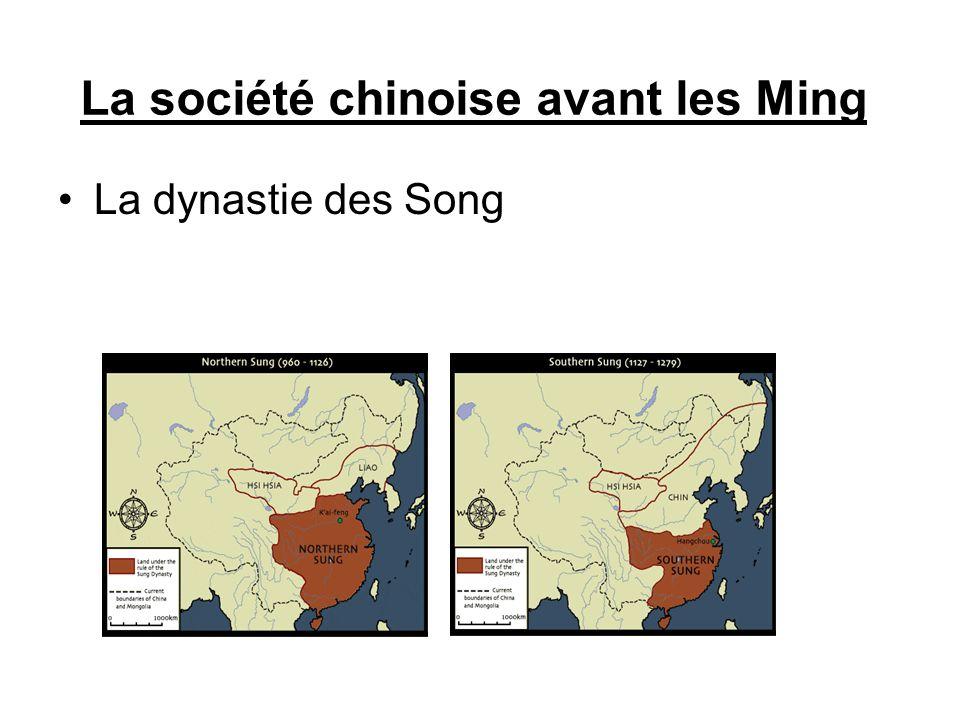La société chinoise avant les Ming Le règne des Mongols : la dynastie des Yang