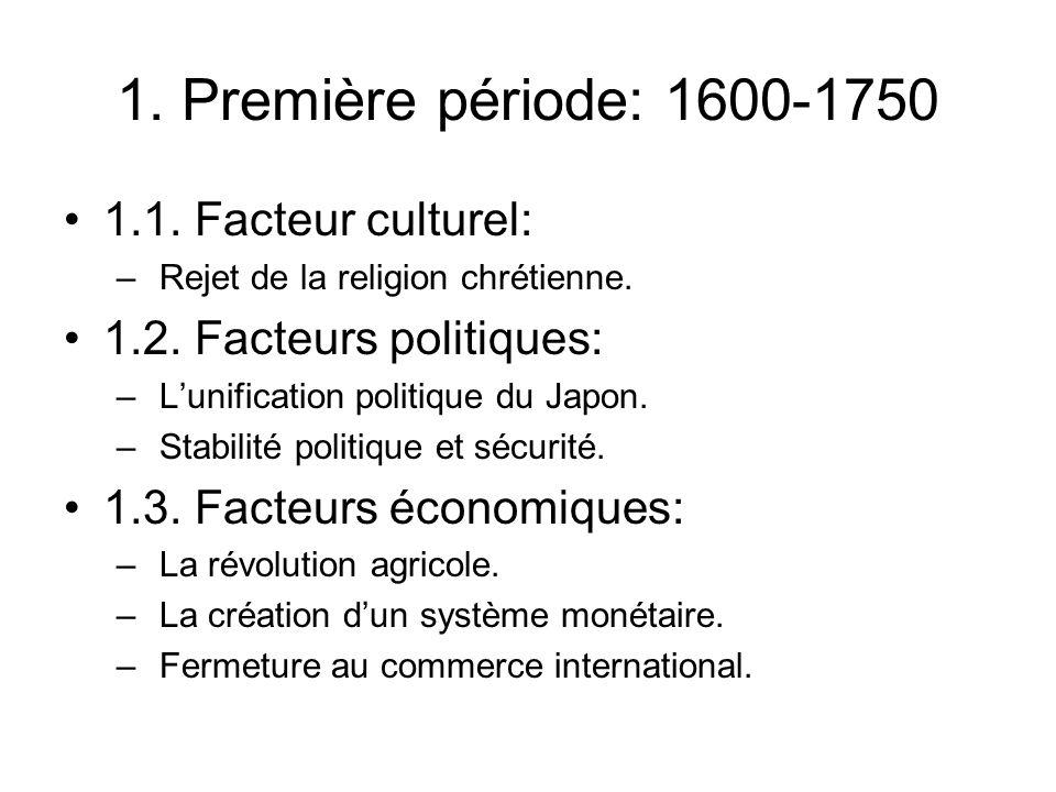 1. Première période: 1600-1750 1.1. Facteur culturel: – Rejet de la religion chrétienne.