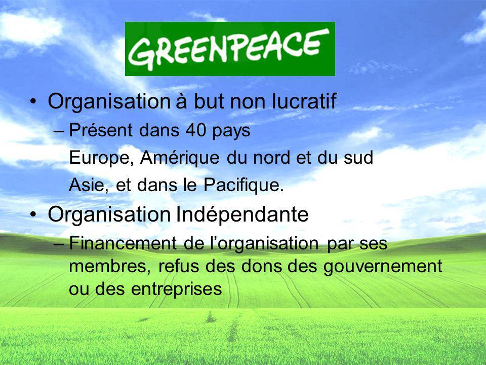 Organisation à but non lucratif –Présent dans 40 pays Europe, Amérique du nord et du sud Asie, et dans le Pacifique. Organisation Indépendante –Financ