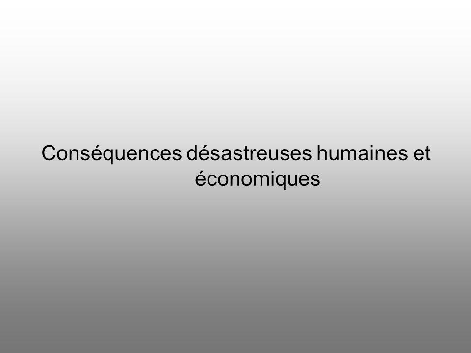 Négligence des aspects économiques Réparations uniquement étudiées sous un angle politique Vie économique futur à lécart des débats Nouvelles frontièr