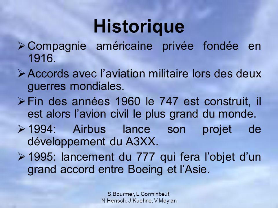 S.Bourmer, L.Corminbeuf, N.Hensch, J.Kuehne, V.Meylan Analyse comparative des commandes davions Boeing a été dépassé par Airbus au niveau des commandes nettes d avions depuis 2002.