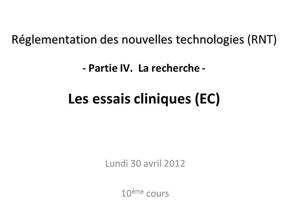 RNT - Prof. Junod - Leçon 10 (30.4.2012) 2 Où en sommes-nous? A