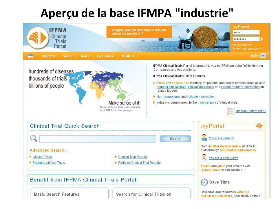 Aperçu de la base IFMPA industrie