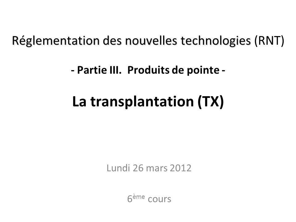 Partie A.5. Les principales autorités RNT - Prof. Junod - Leçon 6 (26.3.2012) A.4