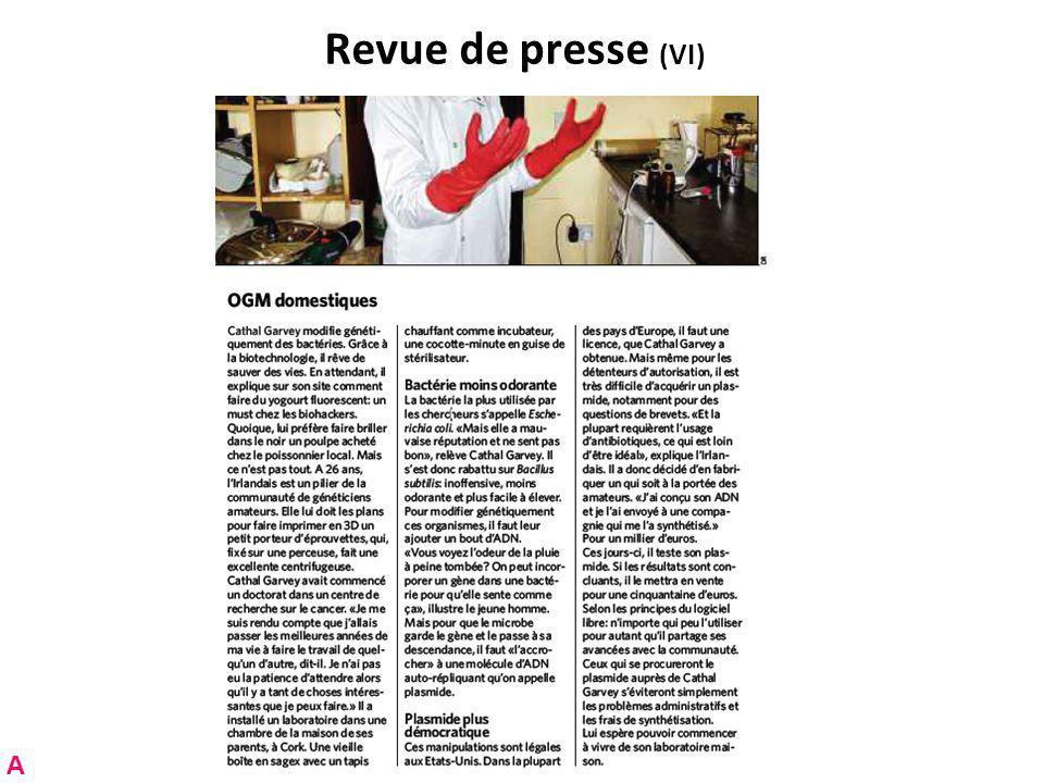 Revue de presse (VI) A