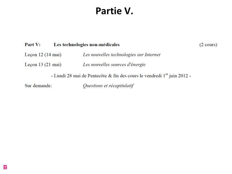Partie V. B