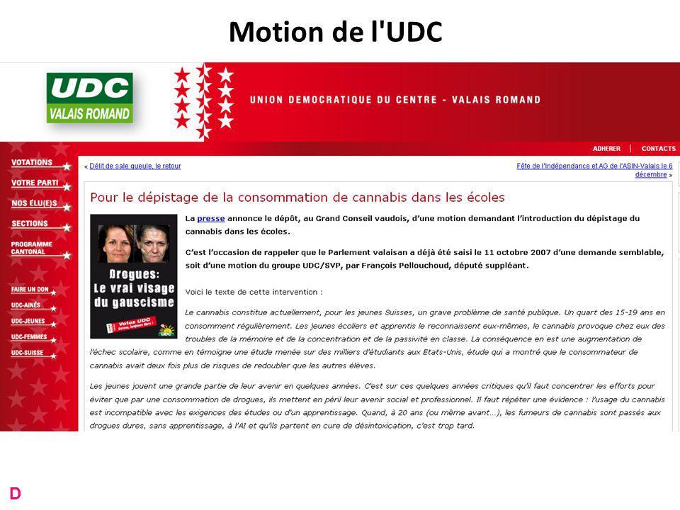 Motion de l UDC D