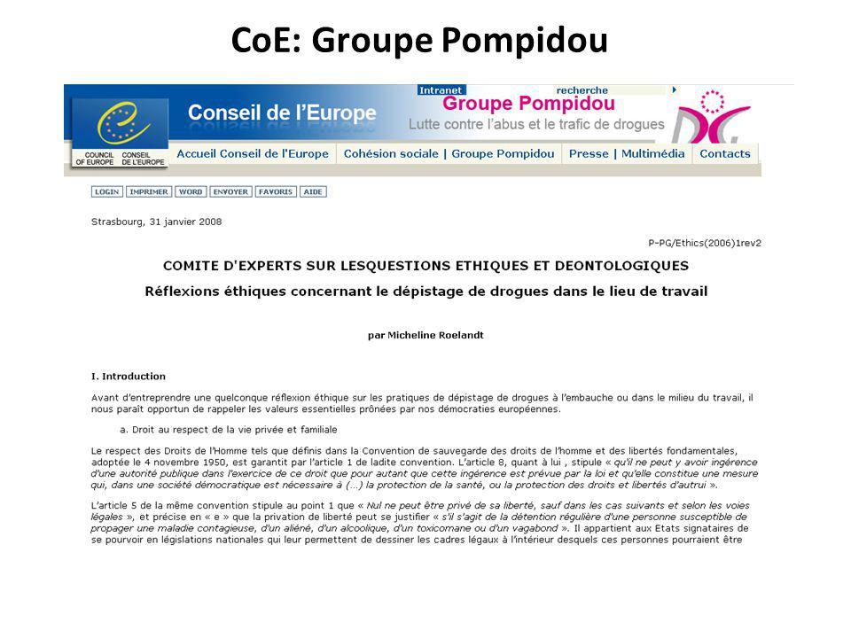 CoE: Groupe Pompidou