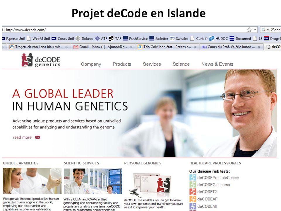 Projet deCode en Islande RNT - Prof. Junod - Leçon 8 (16.4.2012) 54
