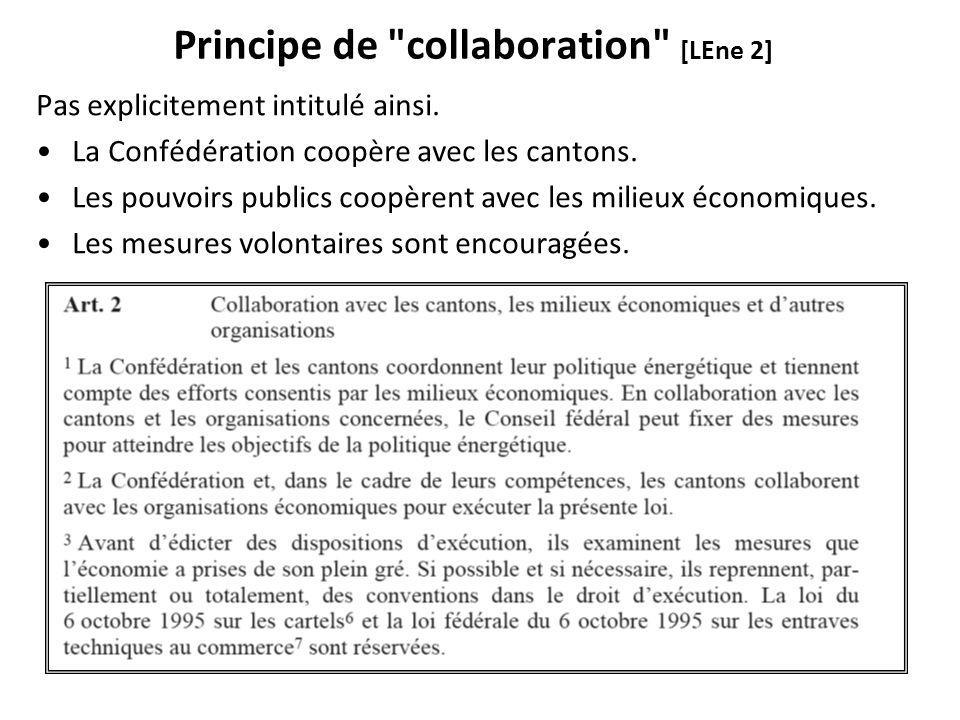 Principe de collaboration [LEne 2] Pas explicitement intitulé ainsi.