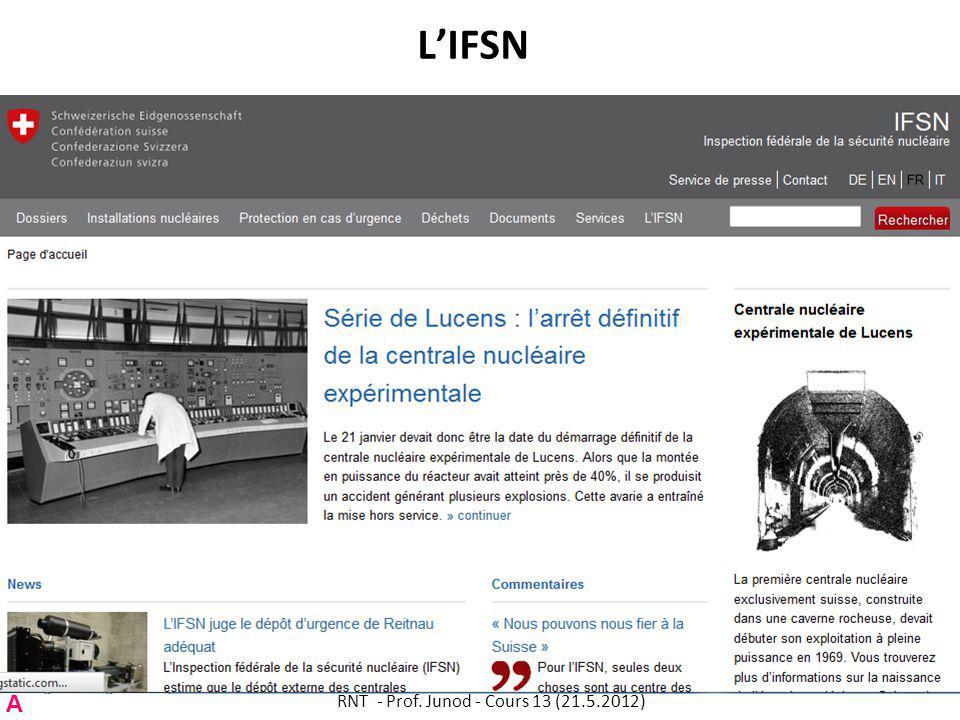 LIFSN RNT - Prof. Junod - Cours 13 (21.5.2012) 67 A