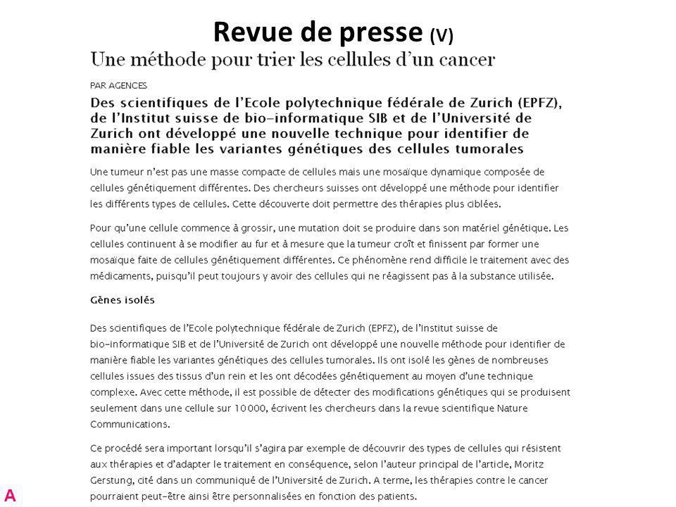 RNT - Prof.Junod - Cours 13 (21.5.2012) 8 Plan de cette leçon Partie A.