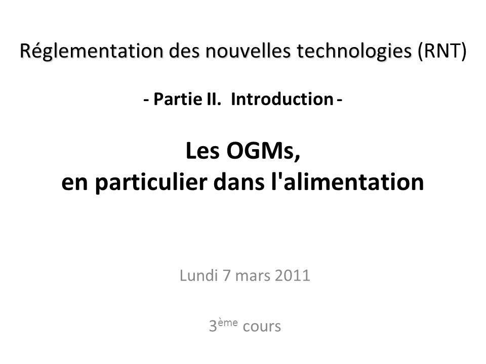 RNT - Prof. Junod - Cours 3 (7.3.2011) 2 Où en sommes-nous? A