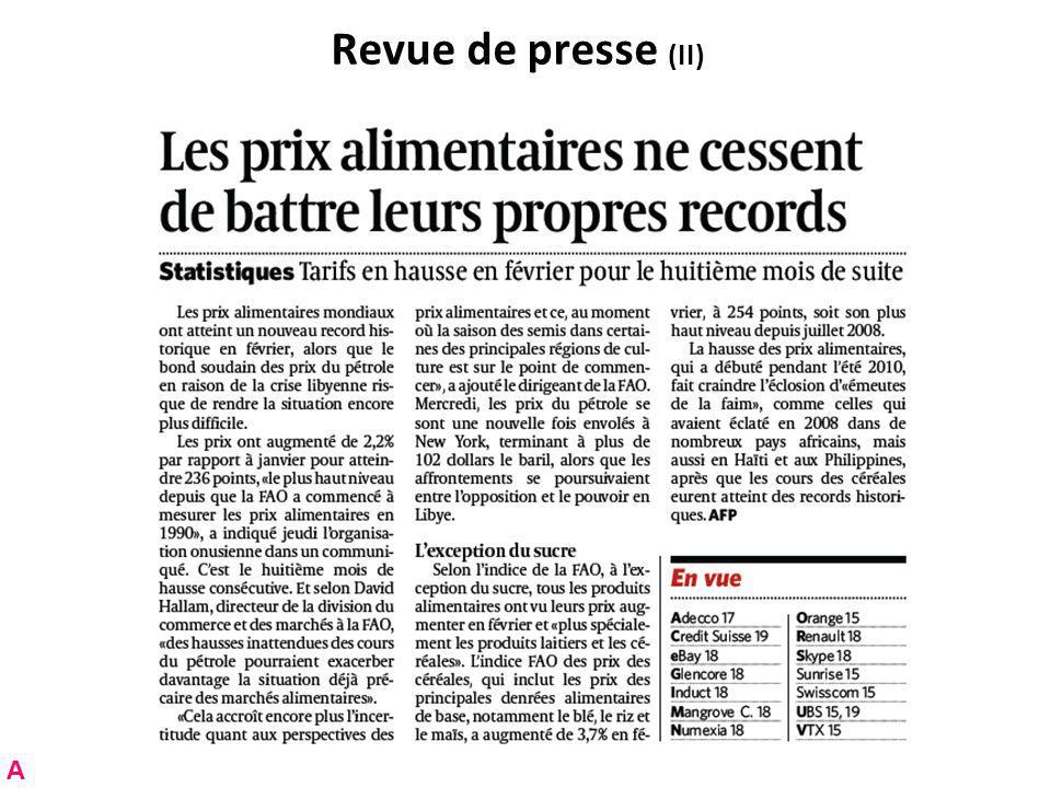 RNT - Prof.Junod - Cours 3 (7.3.2011) 6 Plan de cette leçon Partie A.