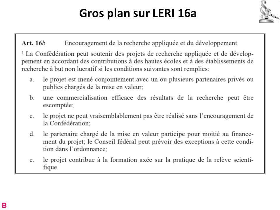 Gros plan sur LERI 16a B