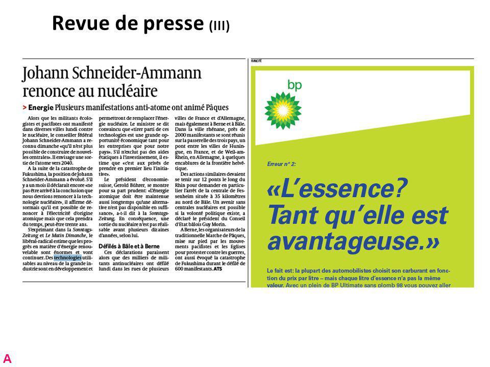 Revue de presse (III) A
