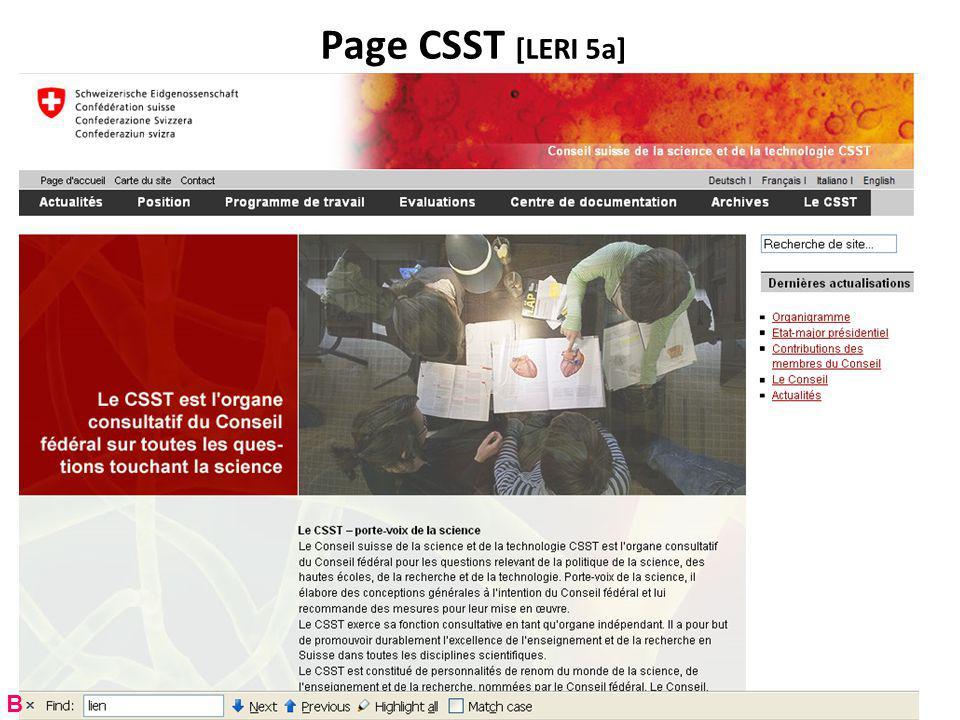 Page CSST [LERI 5a] B