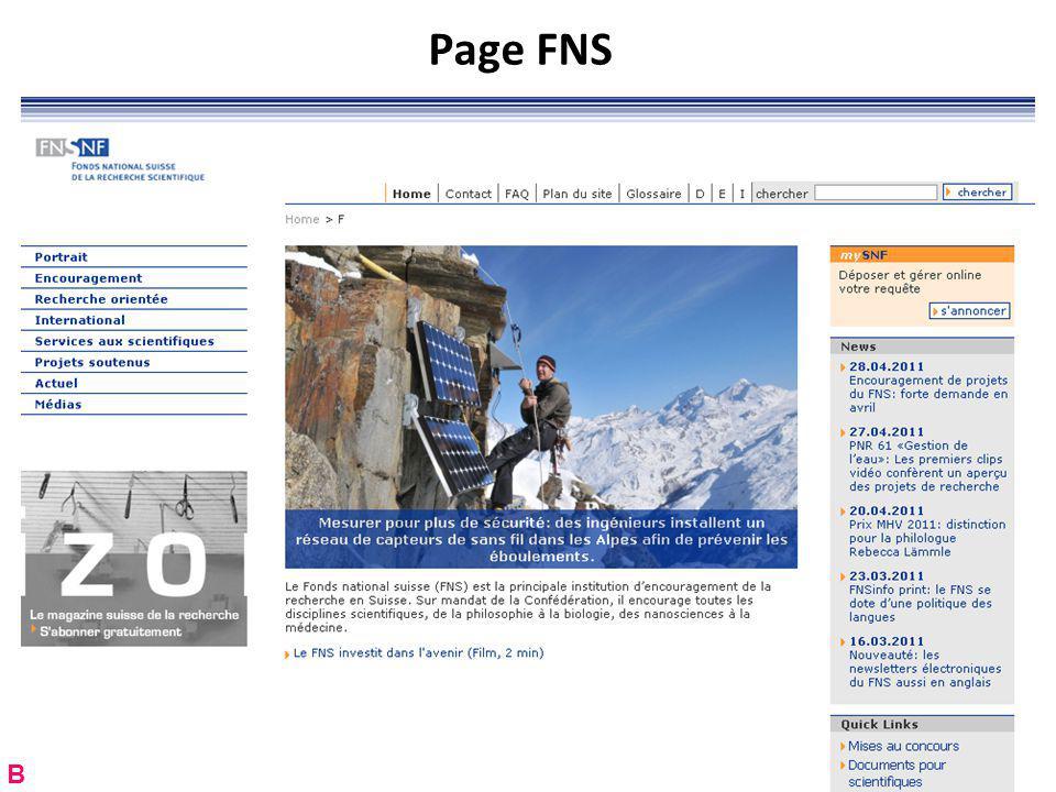 Page FNS RNT - Prof. Junod - Leçon 12 (2.5.2011) B