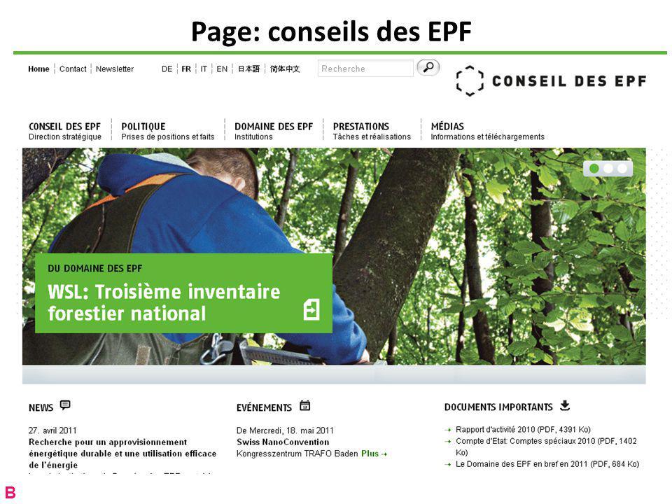 Page: conseils des EPF B