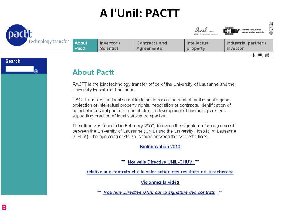 A l Unil: PACTT B