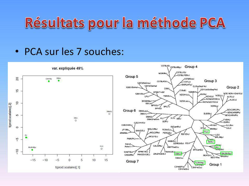 PCA sur les 7 souches: