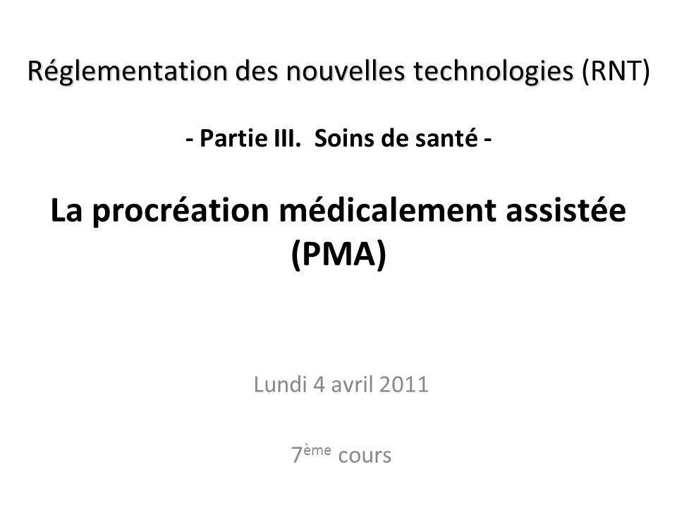 RNT - Prof. Junod - Leçon 7 (4.4.2011) 2 Où en sommes-nous? A