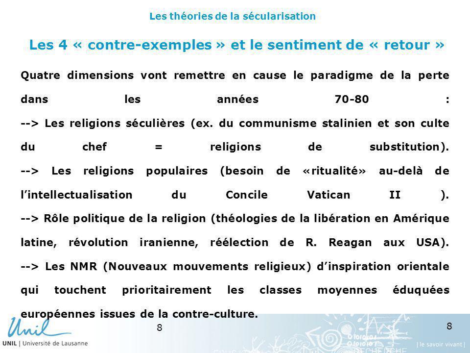 19 Des sociologies « nationales » Malgré leffort de synthèse de K.