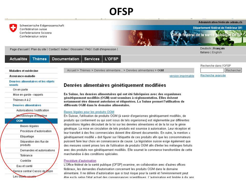 OFEV et son bureau [OUC 15, 9.5] RNT - Prof. Junod - Cours 3 (5.3.2012) 58 A.4