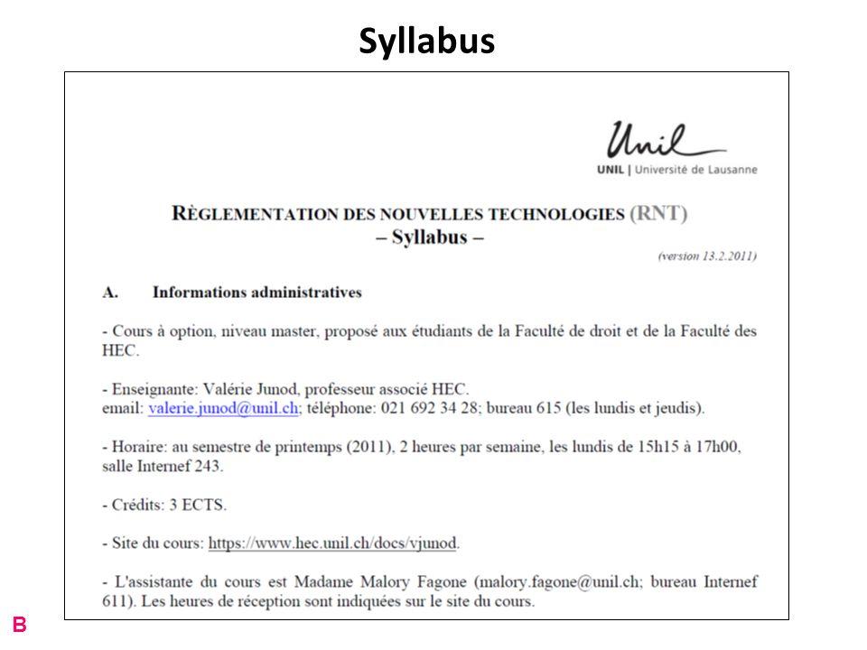 Syllabus B