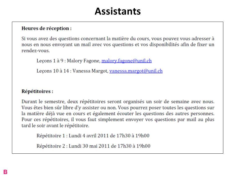 Assistants B