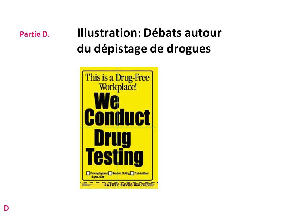 Partie D. Illustration: Débats autour du dépistage de drogues D