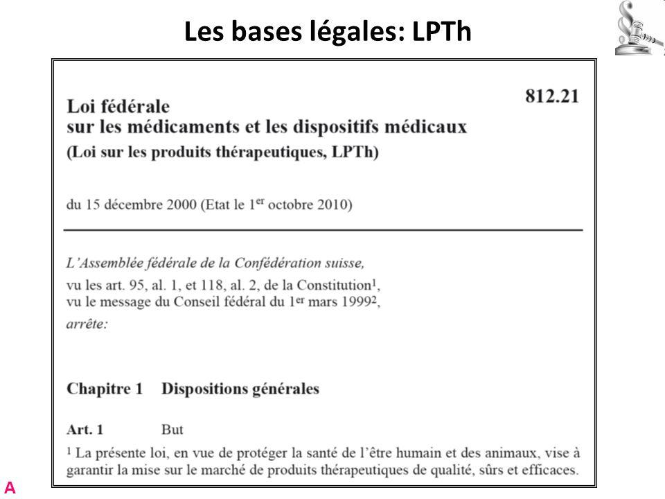 Les bases légales: LPTh A