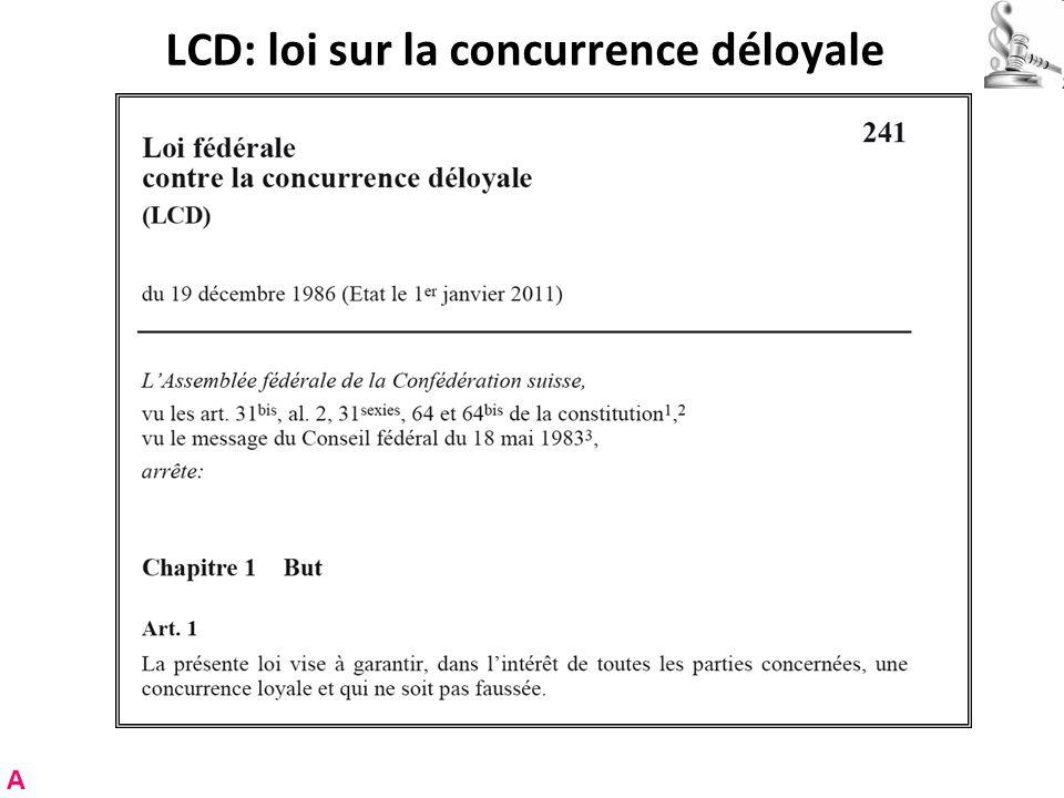 LCD: loi sur la concurrence déloyale A