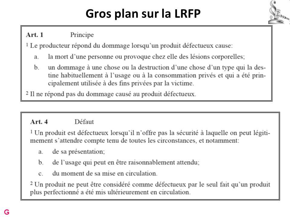 Gros plan sur la LRFP G