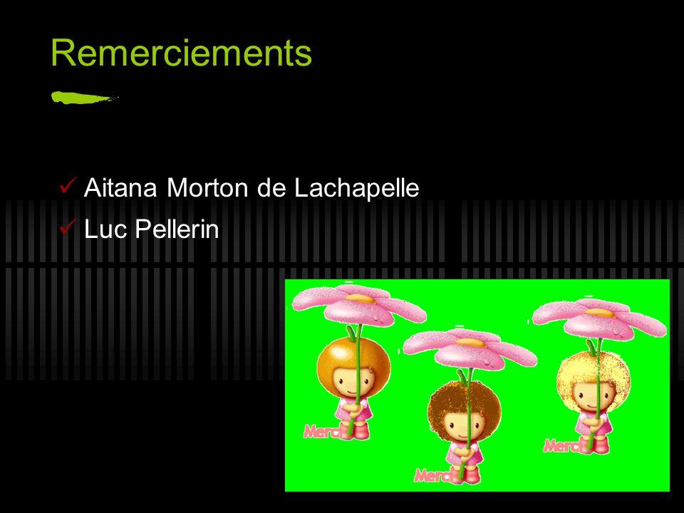 Remerciements Aitana Morton de Lachapelle Luc Pellerin